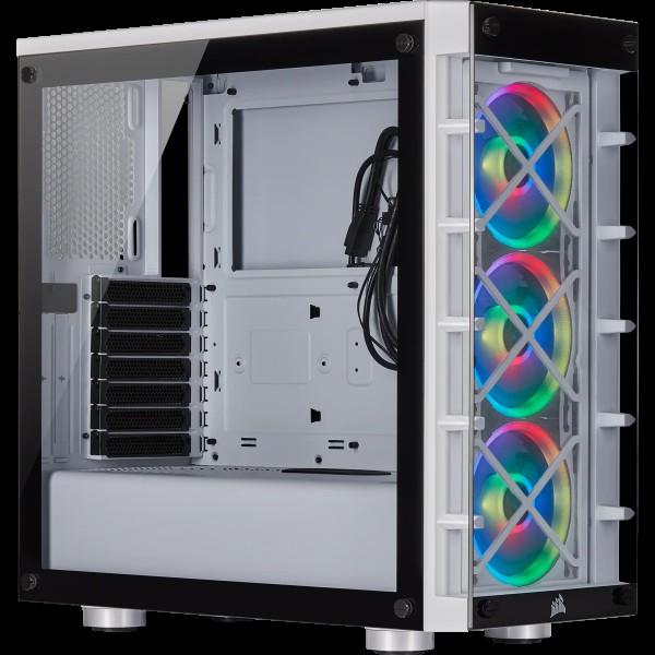 Geh CORSAIR Midi Crystal 465X Tempered Glass Smart Case (W)